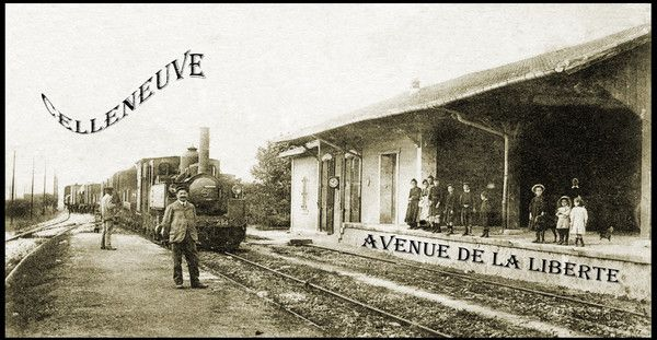 CELLENEUVE  AVENUE DE LA LIBERTE 1912