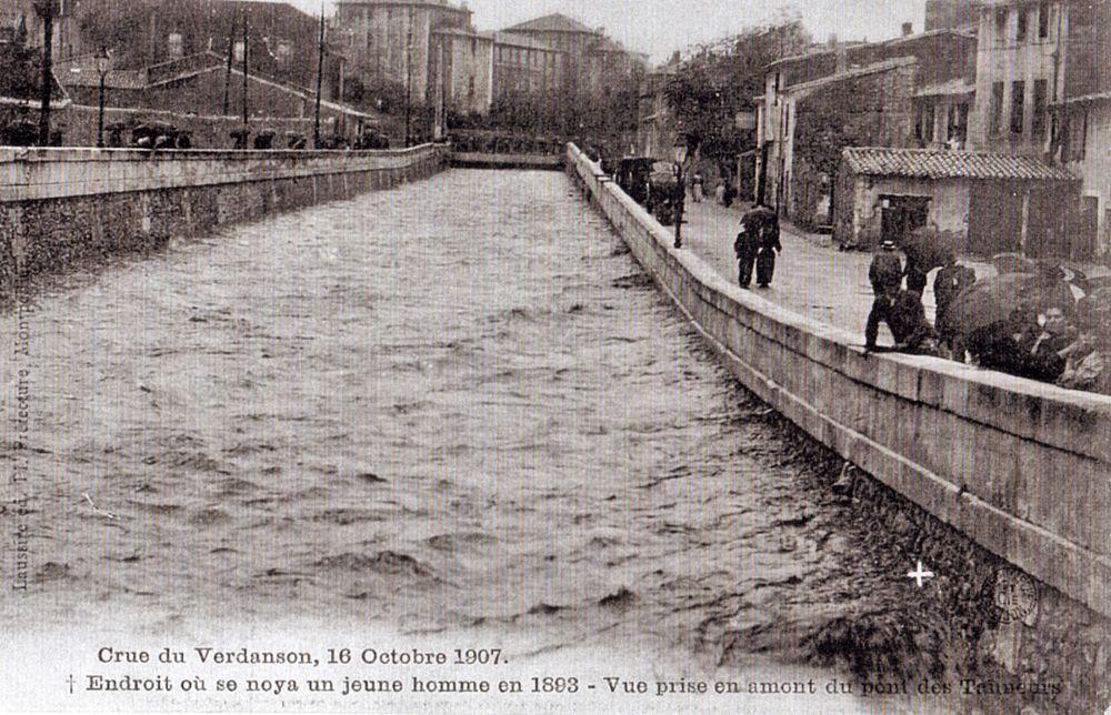 Crue du Verdanson à Montpellier en 1907