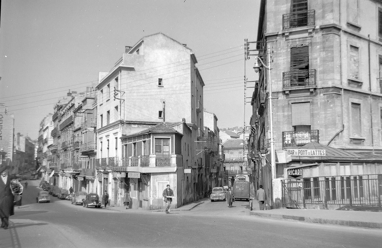 montpellier rue de verdun et pont de lattes 1949. Black Bedroom Furniture Sets. Home Design Ideas